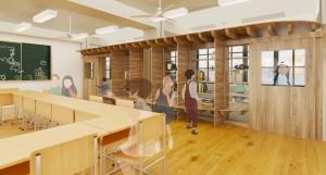 新玉小学校内装木質化改修